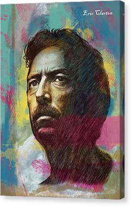 Eric Clapton Stylised Pop Art Drawing Poster Canvas Print by Kim Wang