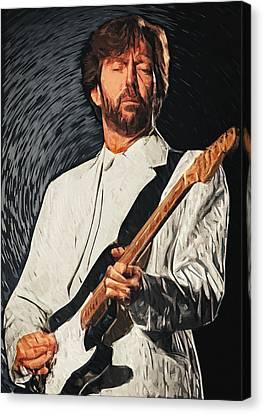 Eric Clapton Canvas Print by Taylan Apukovska