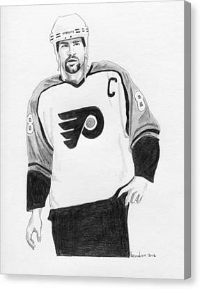 Philadelphia Flyers Canvas Print - Eric Lindros by Brian Condron