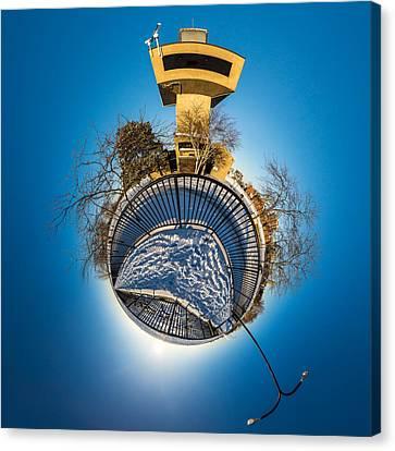 Erie Basin Marina Observation Tower Canvas Print by Chris Bordeleau