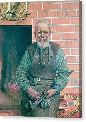 Erik Erikson The Blacksmith Canvas Print by Carl Larsson