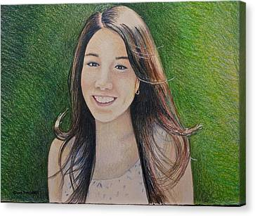 Erika's Portrait Canvas Print