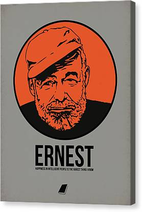 Ernest Poster 1 Canvas Print by Naxart Studio