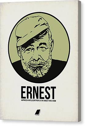 Ernest Poster 2 Canvas Print by Naxart Studio
