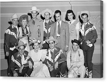 Ernest Tubb Minnie Pearl And Other Grand Ole Opry Stars At Carnegie Hall 1947    Canvas Print by Mountain Dreams