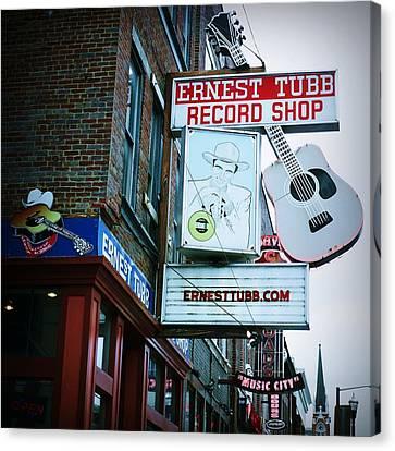 Ernest Tubb Record Shop Canvas Print by Linda Unger