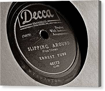 Ernest Tubb Vinyl Record Canvas Print by Chris Berry