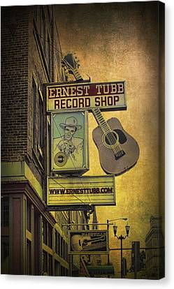 Ernest Tubb's Record Shop Canvas Print by Randall Nyhof