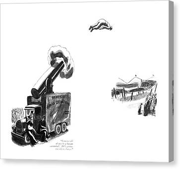 Ernesto Will Always Be A Human Cannonball. He's Canvas Print by Robert J. Day