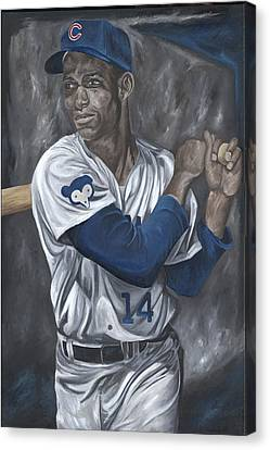 Ernie Banks Canvas Print by David Courson