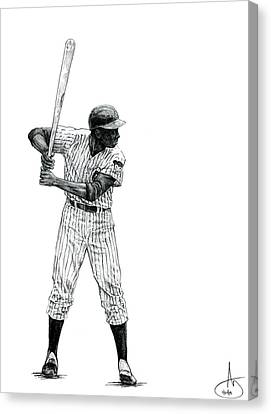 Ernie Banks Canvas Print by Joshua Sooter