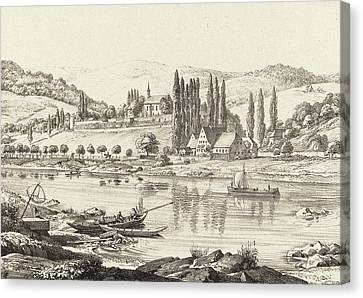 Ernst Fries German, 1801 - 1833, The Convent Of Neuberg Canvas Print by Quint Lox