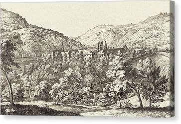 Ernst Fries German, 1801 - 1833, View Of The Convent Canvas Print by Quint Lox