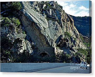 Canvas Print featuring the photograph Eroding Hillside And Tunnel by Susan Wiedmann