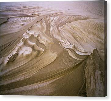 Erosion Reveals Layers Of Sand Canvas Print by Robert L. Potts