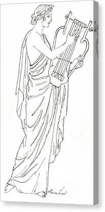 Erato  Muse Of Love Canvas Print