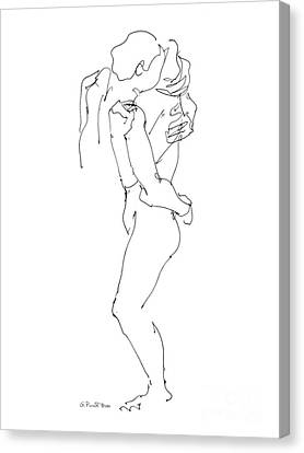 Erotic Art Drawings 8 Canvas Print by Gordon Punt