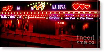 Redlight Canvas Print - Erotic District In Paris by John Malone