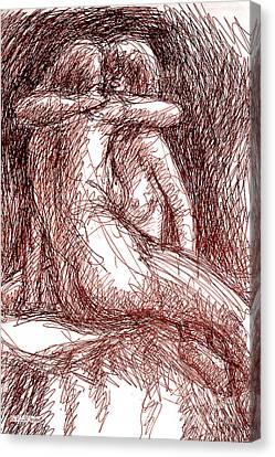 Erotic Drawings 19-2 Canvas Print