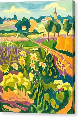 Lanscape Canvas Print - Erpart Legend, 2007 Oil On Board by Marta Martonfi-Benke
