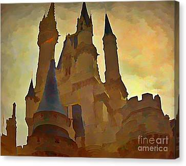 Errie Castle Canvas Print by John  Malone