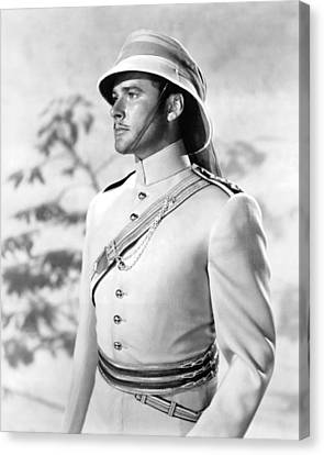 Errol Flynn In The Charge Of The Light Brigade Canvas Print by Silver Screen