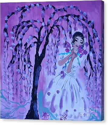 Erte'sblossom Umbrella Canvas Print by Marie Bulger