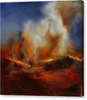 Eruption Canvas Print by Lissa Bockrath