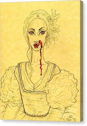 Erzibeth Bathory Canvas Print