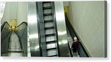 Escalator 23 Minutes Canvas Print by Eric Soucy
