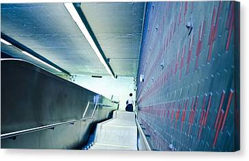 Escalator Blues Canvas Print by Eric Soucy