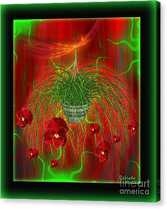 Canvas Print featuring the digital art Escape - Floral Abstract Art By Giada Rossi by Giada Rossi