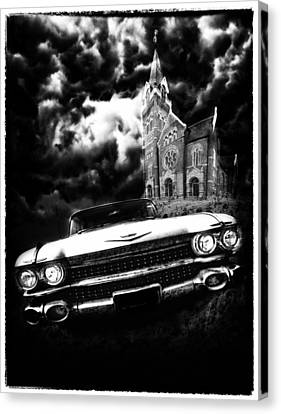 Escape From Chapel Doom Canvas Print by Stephen Hooker