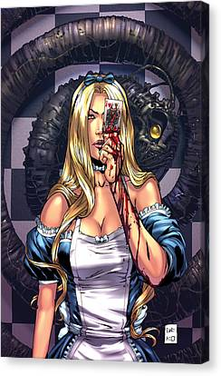 Mad Hatter Canvas Print - Escape From Wonderland 02c by Zenescope Entertainment