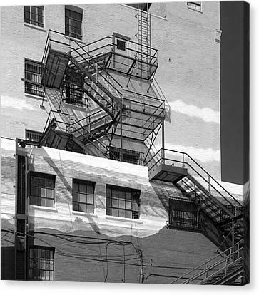 Fire Escape Canvas Print - Escape St. Joseph Missouri by Don Spenner