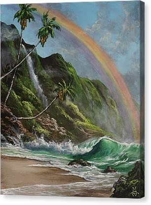 Escape To Paradise Canvas Print by Marco Antonio Aguilar