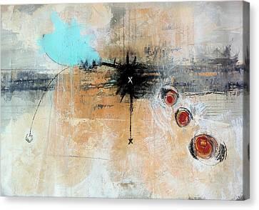 Sumi Ink Canvas Print - Escape Velocity by Mark M  Mellon