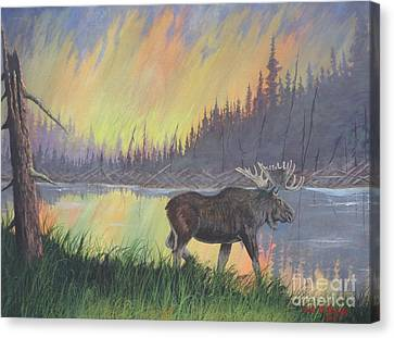 Escaping The Yellowstone Fires Canvas Print