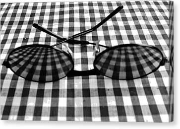 Escher Drops His Glasses By Darryl Kravitz Canvas Print by Darryl  Kravitz
