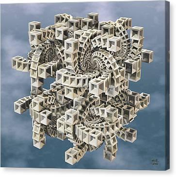 Escher's Construct Canvas Print