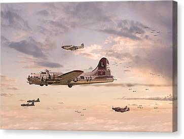 B17 Canvas Print - Escort Service by Pat Speirs