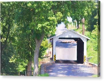 Eshelman's Mill Bridge Canvas Print by Terry Weaver