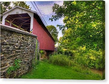 Canvas Print featuring the photograph Eshelman's Mill Covered Bridge by Jim Thompson