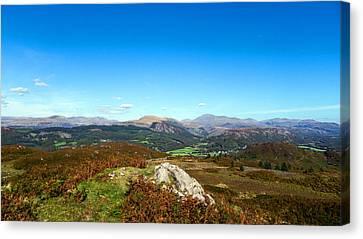Eskdale Green From Muncaster Fell Canvas Print by Steven Garratt