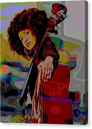 Grammy Winners Canvas Print - Esperanza Spalding by  Fli Art