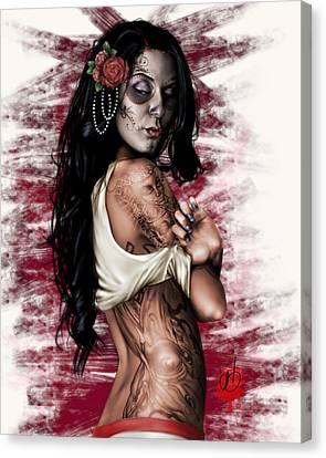 Digital Nudes Canvas Print - Esperanza Viva by Pete Tapang