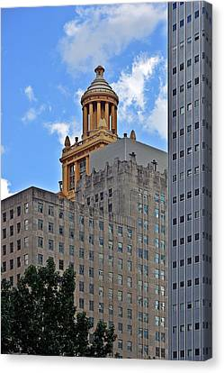 Cupola Canvas Print - Esperson Buildings Houston Tx by Christine Till
