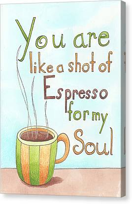 Espresso Art Canvas Print