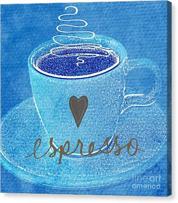 Espresso Canvas Print by Linda Woods