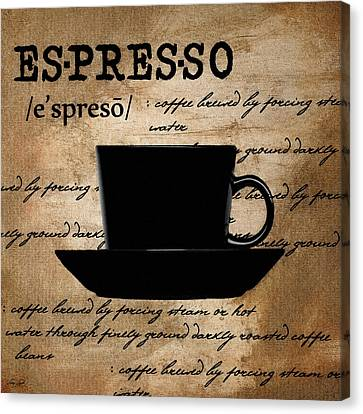 Espresso Madness Canvas Print by Lourry Legarde